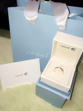 【canal4℃(カナルヨンドシー)の口コミ】 デザインがシンプルで結婚指輪としても使えると思ったから。ピンクゴール…