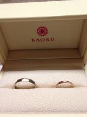 【KAORUの口コミ】 店舗が東京と京都にしかないのですが、デザインや太さ、刻印が選べ、スタ…
