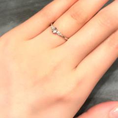 【ケイウノ ブライダル(K.UNO BRIDAL)の口コミ】 可愛らしい指輪が多く目移りしてしまいましたが、割とシンプルなタイプに…