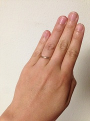 【俄(にわか)の口コミ】 指輪などの貴金属に全く縁遠い2人にとって、「日本製の指輪」という点が、…