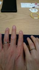 【with Happiness..の口コミ】 スヌーピーの結婚指輪でずっと考えていて、直接見たら一目惚れ!この指輪…