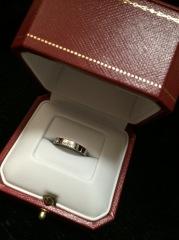 【カルティエ(Cartier)の口コミ】 せっかくの憧れハイブランドの指輪で、ロゴが入っているデザインに惹かれ…