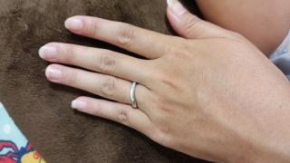 【4℃(ヨンドシー)の口コミ】 男性用はシンプル、女性用はダイアモンドがはいったかわいいタイプのリング…