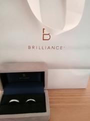 【BRILLIANCE+(ブリリアンスプラス)の口コミ】 こちらで購入した婚約指輪、妻が大満足でしたので、結婚指輪もこちらで選…
