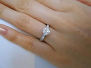 【ティファニー(Tiffany & Co.)の口コミ】 前からこの指輪がほしいと言っていたのですが高いので無理と言われていたの…