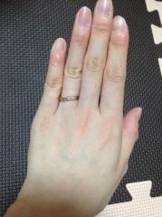 【ガラOKACHIMACHIの口コミ】 私は結婚指輪は、メレダイヤが付いていてあまりゴツくない物を探していまし…