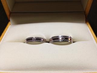【ケイウノ ブライダル(K.UNO BRIDAL)の口コミ】 「2人でお揃いの形」「太め」「デザイン」をポイントにして指輪を探して…