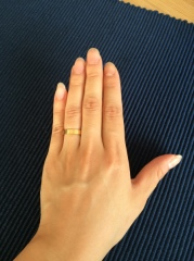 【カルティエ(Cartier)の口コミ】 カルティエのラブシリーズのリングに昔から憧れており、結婚指輪はカルテ…