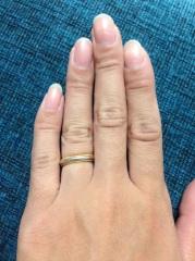 【ティファニー(Tiffany & Co.)の口コミ】 シンプルすぎることもなく派手すぎることもなくありきたりな結婚指輪じゃ…