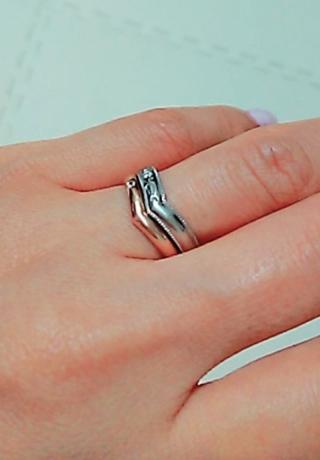 【ケイウノ ブライダル(K.UNO BRIDAL)の口コミ】 結婚指輪のデザインが決まっていたので、そのデザインに合わせて主人が内…