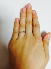 【ガラOKACHIMACHIの口コミ】 指輪の決め手は、なんといっても試着した時に指がキレイに細くみえるところ…