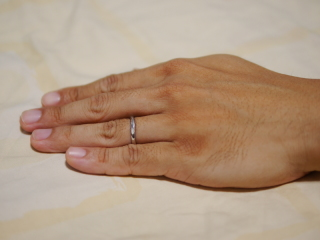 【vielle bijou SOPHIA(ヴィエールビジュソフィア)の口コミ】 彼女はこの指輪を見たとき、特別な形を気に入りました。彼女が好きだから、…