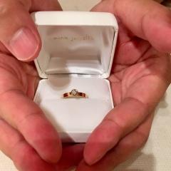 【mina.jewelry(ミナジュエリー)の口コミ】 結構指輪と組み合わせて使う事を前提にしているので、リングを重ねても隙…