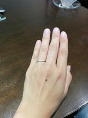 【LUCIE(ルシエ)の口コミ】 既製品の指輪も魅力的なデザインがたくさんありましたが、自分の手に馴染…