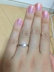 【ジュエリー東京の口コミ】 この指輪は数ある中から一目惚れした指輪です。《予算内ですが、、》  真…