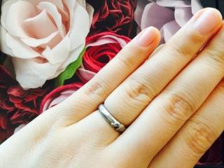 【ケイウノ ブライダル(K.UNO BRIDAL)の口コミ】 ゼクシイでこの指輪のデザインを見つけ、夫婦でディズニーファンだったこ…