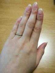 【ティファニー(Tiffany & Co.)の口コミ】 日常生活では身に付ける事が少ない婚約指輪を、なるべく付けやすいように…