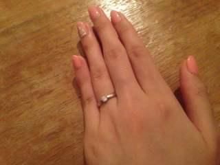 【ティファニー(Tiffany & Co.)の口コミ】 「婚約指輪を長く着用できないのは勿体ない為、もし頂けるなら結婚指輪と重…