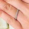 【Mariage(マリアージュ)の口コミ】 たくさんのダイヤが付いており、しっかりとした白い輝きが上品な印象のリ…