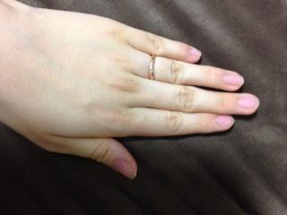 【FIRST DIAMOND(ファーストダイヤモンド)の口コミ】 オーダー、またはセミオーダーの指輪が欲しかったため、こちらのお店の指輪…