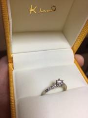 【ケイウノ ブライダル(K.UNO BRIDAL)の口コミ】 譲り受けた指輪をつかい、オーダーメイドで作っていただきました。ジュエ…