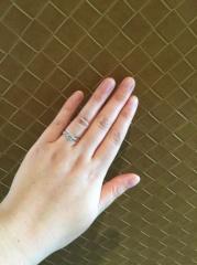 【Cadensia bridal(カデンシアブライダル)の口コミ】 とにかくセンターにあるダイヤモンドの大きさにこだわっていた為、出来る…