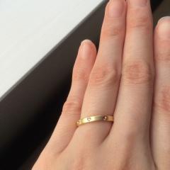 【銀座ダイヤモンドシライシの口コミ】 婚約指輪もダイヤモンドシライシさんで買ってもらったので、婚約指輪にそろ…