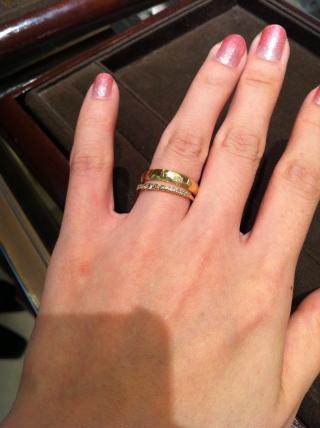 【ete(エテ)の口コミ】 セミオーダーが出来るタイプだったため、指輪のデザイン、ダイアモンドの色…