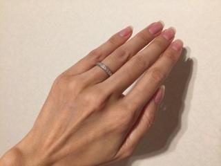 【アイプリモ(I-PRIMO)の口コミ】 結婚指輪を普段から着用したかったので、飽きのこないシンプルなデザインで…