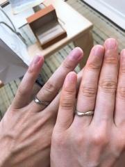 【Cayof(カヨフ)の口コミ】 結婚をしてずっとつけていく指輪なので、世界に一つしかない自分たちだけ…