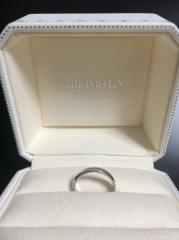 【MIKIMOTO(ミキモト)の口コミ】 デザインは飾りもなくシンプルなものでと 決めていましたが、太さがなかな…