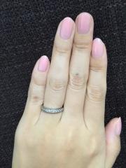 【ティファニー(Tiffany & Co.)の口コミ】 婚約指輪のティファニーセッティングと重ね着けしたかったので、それに合…