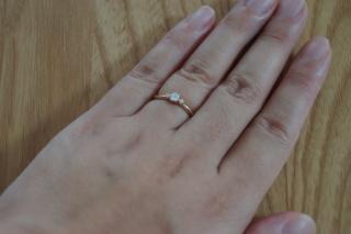 【LUCIE(ルシエ)の口コミ】 婚約指輪は、せっかくだから、結婚してからもお出かけのときには着けて歩…