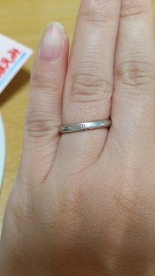 【Douxmiere bijou SOPHIA(ドゥミエール ビジュソフィア)の口コミ】 入籍前から結婚指輪を探していましたがなかなか気に入るものが見つかりませ…