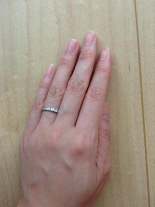 【ギンザタナカブライダル(GINZA TANAKA BRIDAL)の口コミ】 常にキラキラと輝く指輪をつけていたかったので、こちらのエタニティリング…