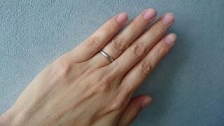 """【L'or(ロル)の口コミ】 結婚指輪は、素材はプラチナ!(""""永遠に変わらない""""という意…"""