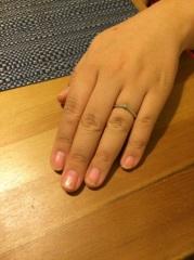 【ケイウノ ブライダル(K.UNO BRIDAL)の口コミ】 ふっくらとした指をフォローするアーチ状のデザインが気に入りました。アー…