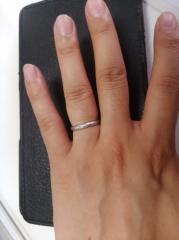 【Cafe Ring(カフェリング)の口コミ】 決め手はとてもシンプルであり、かつ、錆びにくいマット加工されていること…