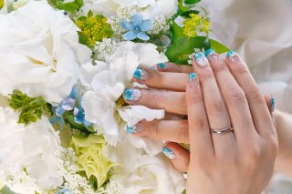 【Mariage(マリアージュ)の口コミ】 私の婚約指輪とセットで付けて違和感がないこと、でも主人にも指輪に愛着を…