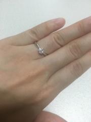 【TASAKI(タサキ)の口コミ】 彼からプロポーズのときにもらいました。とってもダイヤが大きくて綺麗で…