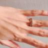 【ORECCHIO(オレッキオ)の口コミ】 重ね付けした時にバランスよく見えるという点を重視しました。結婚指輪、…