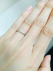 【Cafe Ring(カフェリング)の口コミ】 もともとエタニティリングを買う予定でしたが、店員さんに「エタニティだと…