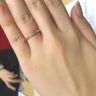 【TRECENTI(トレセンテ)の口コミ】 華奢でシンプルなデザインが自分の指には似合っているように感じたのが決…
