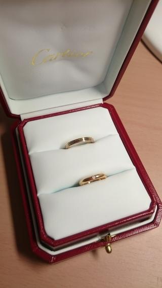 【カルティエ(Cartier)の口コミ】 ブランドは決めてあったので、結婚指輪は婚約指輪と違ってホームページで見…