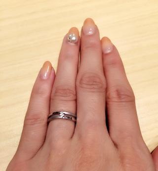 【グッチ(GUCCI)の口コミ】 普通の結婚指輪に見えず、デザインが良かった\(⌒日⌒)/シンプルな指輪も…