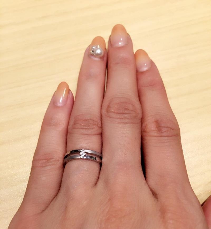designer fashion 78ecd 2be15 普通の結婚指輪に見えず、デザインが良かった\(⌒日 ...