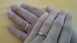 【ジュエリーツツミ(JEWELRY TSUTSUMI)の口コミ】 シルバーと悩みましたが錆びないプラチナリングというのと、この指輪は2つ…