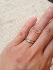 【アイプリモ(I-PRIMO)の口コミ】 旦那さんの意見を尊重しました。結婚指輪は婚約指輪と使ってペアのものなの…