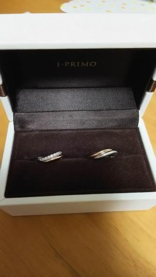 【アイプリモ(I-PRIMO)の口コミ】 婚約指輪を買わなかったので、結婚指輪はシンプルすぎないダイヤが少し付い…