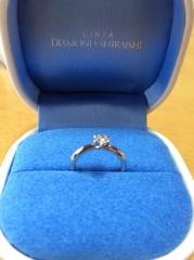 【銀座ダイヤモンドシライシの口コミ】 自分の指に似合うことが 大前提でした なにぶん舞台が細い指なので 太い…